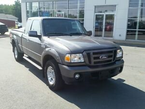 2011 Ford Ranger Sport. 2WD V6, air, heated seats, Reese Hitch.