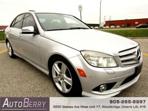 2010 Mercedes Benz C-Class C300 4MATIC Silver on Black Leather