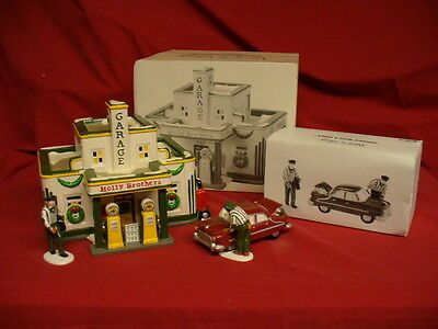 Dept 56 Holly Brothers Garage And  Service With A Smile