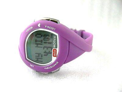 MIO Motiva Petite Heart Rate Monitor Calorie Management Women's Watch ~ Purple