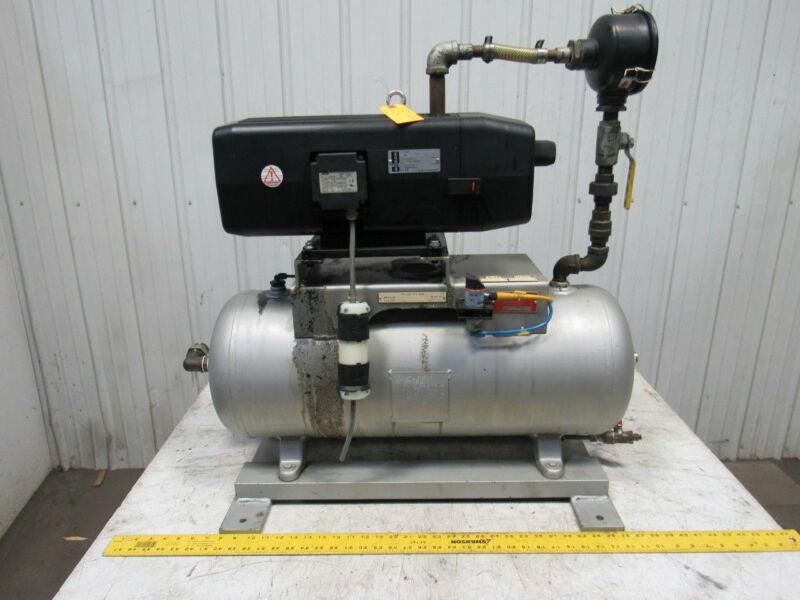 Busch SV-1040-C-000-INZZ Vacuum Pump Assembly W/15 Gal. Tank & Pressure Switch