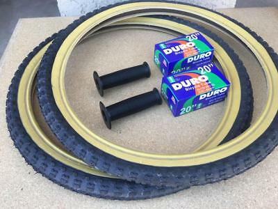 2 TWO DURO 26X1.75 47-559 BICYCLE TIRES BLUE GUMWALL COMP 3 TYPE BMX /&TUBES