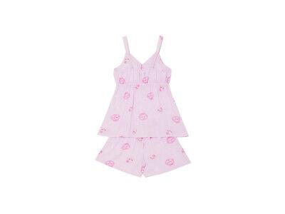 Kakao Friends Pajama Women Free Size Sleepwear Set Apeach Pink sleeveless