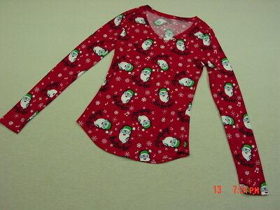 Fun Christmas Party Themes (NWT Junior Women Santa Christmas Theme Shirt V Neck Holiday Xmas Party fun)