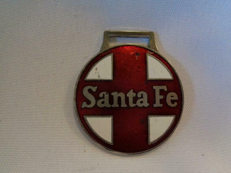 SANTA FE AT&SF RAILROAD WATCH FOB IN RED/WHITE - FREE SHIPPING