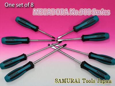 Vessel Megadora Screwdriver No.900 Series Set Of 8 Made In Japan