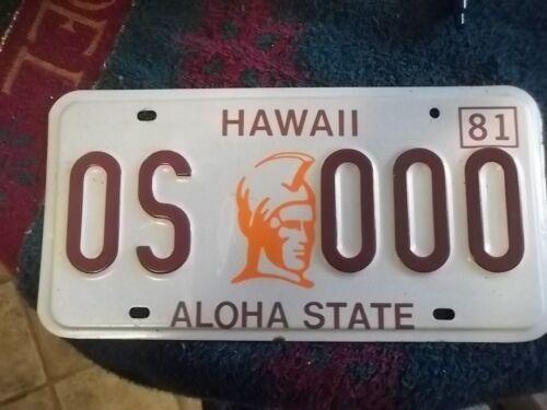 Hawaii sample auto license plates original 1981