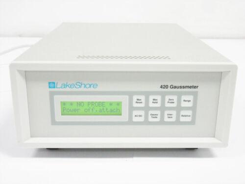 LAKESHORE 420 GAUSSMETER LCD GAUSS TESLA ~ 3 mG (0.3 µT) to 300 kG (30 T)