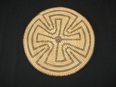 A Pima Basket Tray, Native American Indian, Circa: 1910
