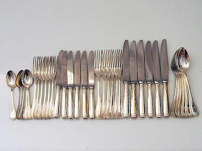Wunderschönes Besteck, 6 Personen, 36 Teile; Sterling 925, Christofle, Malmaison