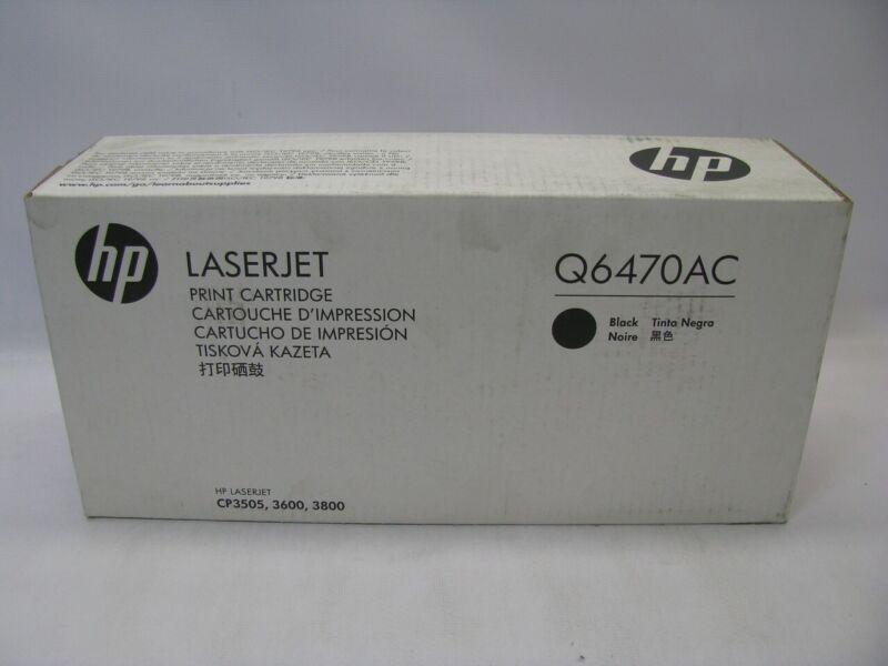 HP LaserJet Q6470AC Black Toner Print Cartridge *New Sealed*