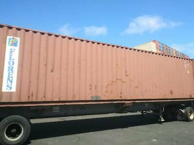 Used 40 High Cube Steel Storage Container Shipping Cargo Conex Seabox El Paso