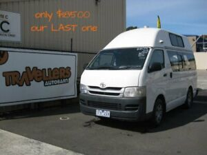 2009 Toyota Hiace Hightop Campervan - Ex-Rental with Warranties - Last One Banksmeadow Botany Bay Area Preview