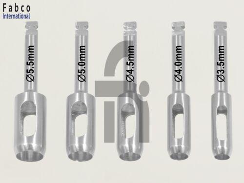 Dental Implant Tissue Punch Kit 5pcs Dental Implant Surgery Instruments