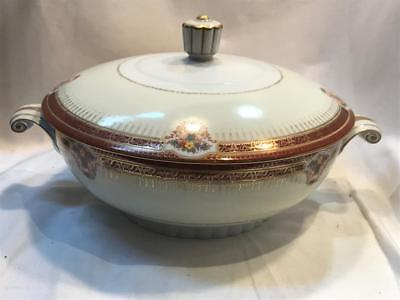 Narumi Empress Hand Painted Occupied Japan Covered Vegetable Bowl Vintage