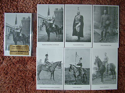 THE BRITISH ARMY - CAVALRY REGIMENTS (2). 6 card set.  Mint Condition.