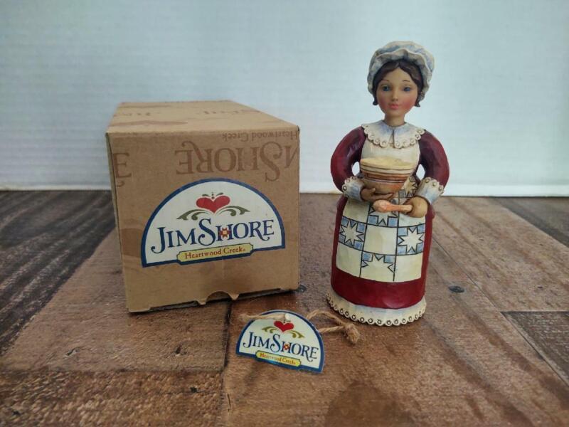 2012 Woman Thanksgiving Pilgrim Jim Shore Heartwood Creek Enesco in Original Box