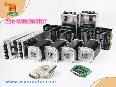 Free Usa Wantai 4axis Nema34 Stepper Motor 1232oz-in 5.6a Driver 80v Cnc Kit