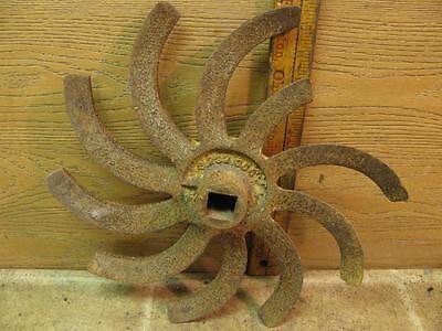 Lilliston Rolling Cultivator Spike Wheel Steampunk Rotary Hoe Farm Art Repurpose