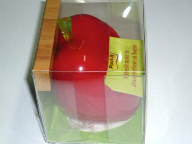 3M POST-IT APL-330 POP-UP NOTES DISPENSER APPLE SHAPED with FREE 50 NOTES APL330