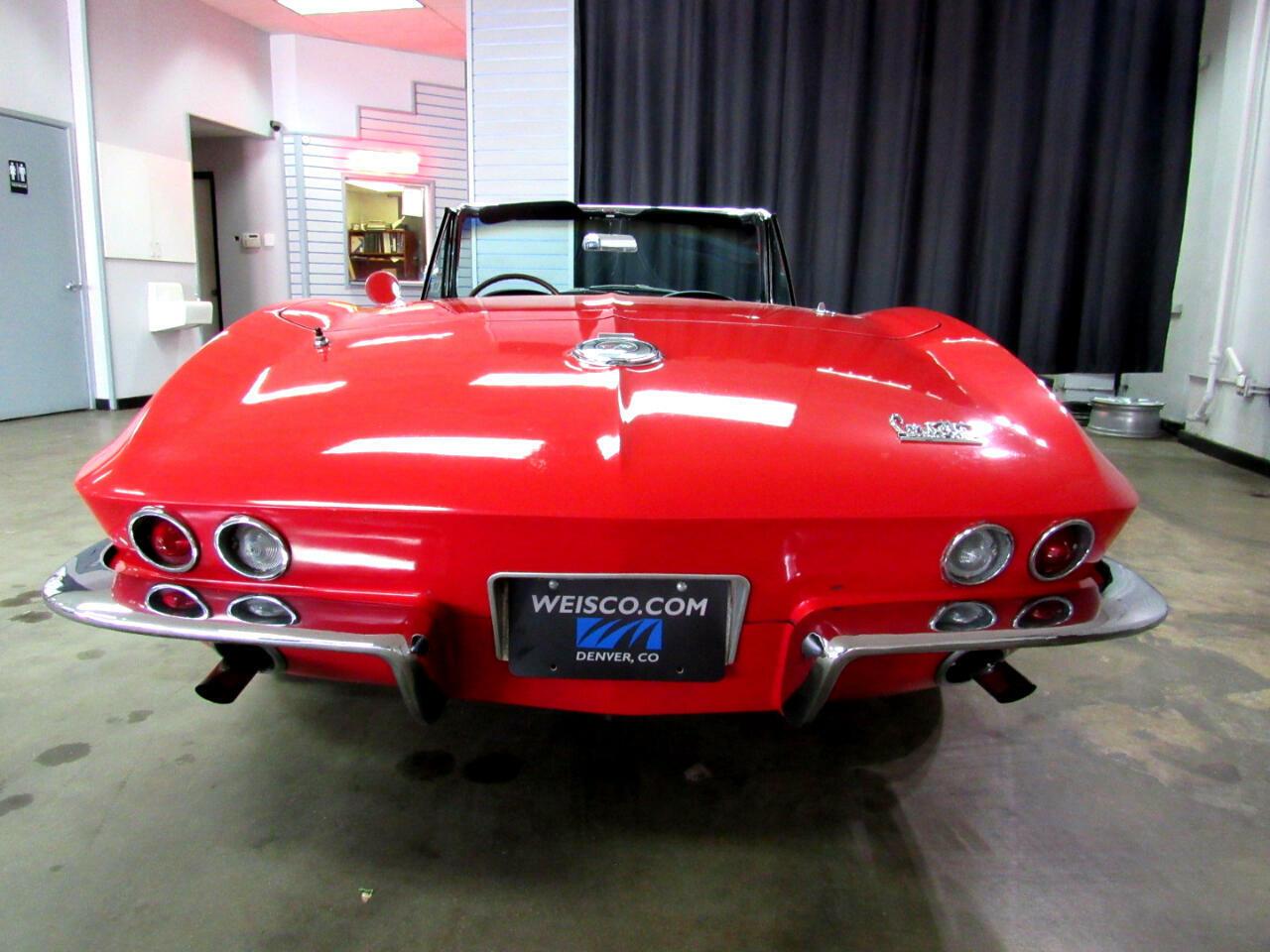 1966 Red Chevrolet Corvette Convertible    C2 Corvette Photo 6