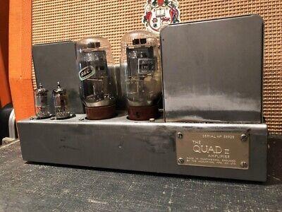 Vintage 1960s 1964 Quad II Amplifier Mono Block 58928 Serviced WITHOUT VALVES