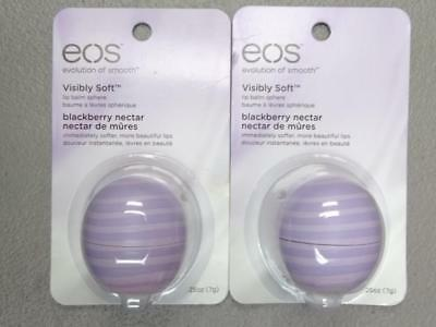 2 EOS Blackberry Nectar Lip Balm Set of 2 exp 10/2017