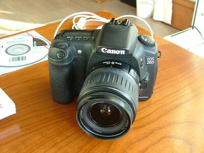 Canon EOS 20D 8.2MP Digital SLR Camera - Black with Canon 18-55mm lens.