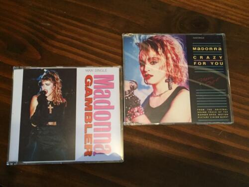 """2 CDs Singles """"Crazy For You"""" and """"Gambler"""" Madonna"""