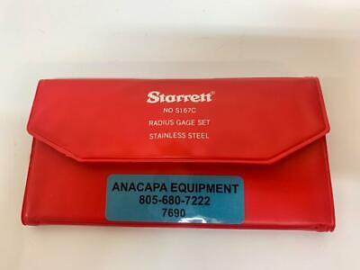 Starrett No S167c Radius Gage Set Stainless Steel Missing 364 Gage 7690 W