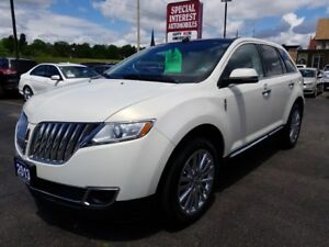 "2013 Lincoln MKX 20"" CHROME WHEELS !!! ACCIDENT FREE !!!"