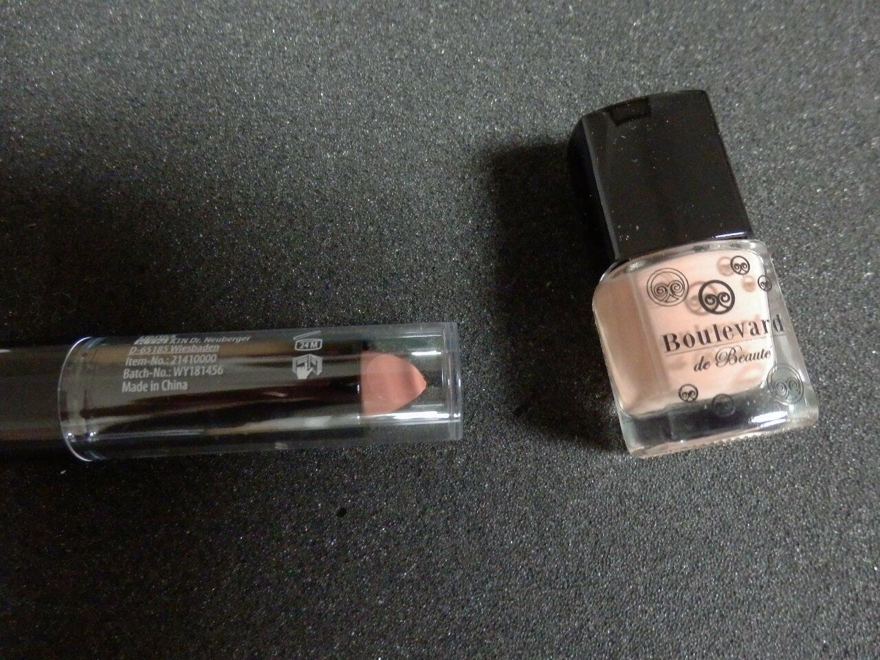 BOULEVARD de BEAUTE: Nagellack und Lippenstift in tauperose - original