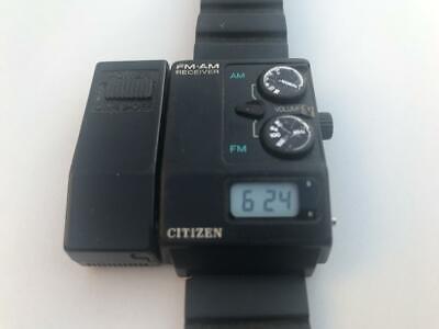 Usado,  Reloj CITIZEN con radio AM FM Made in Japon 1985 vintage muy raro segunda mano  Argentina