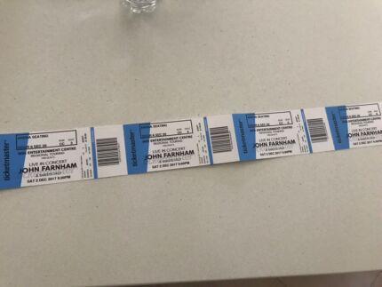 Concert tickets John Farnham