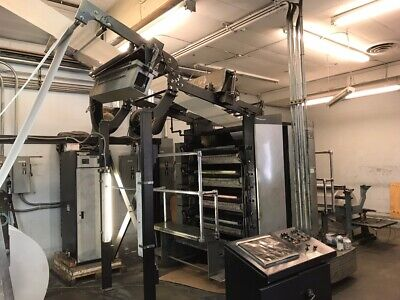 Quad Stack By Web Press With Online Energy Uv Dryers Goss Folder