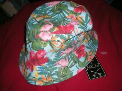 NEW TROPICAL BLUE FLAMINGO SUMMER LOTS of PINK FLAMINGOS GILLIGAN ISLAND HAT (Blue Summer Hat)