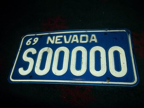 Nevada sample license plate 1969