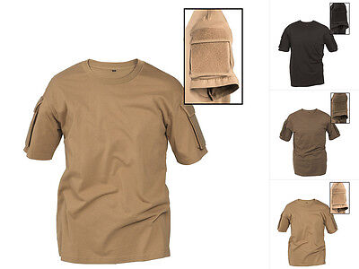 Hemd Schwarz Bekleidung (Mil-Tec Tactical T-Shirt mit Tasche Einsatzhemd Hemd Schwarz Oliv Coyote S-3XL)