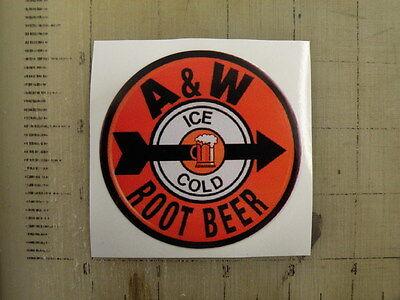 """Vintage A&W sticker decal 3"""" diameter"""