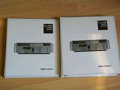 Gigatronics Gt9000 Microwave Generator Operational Service Manuals Giga-tronics