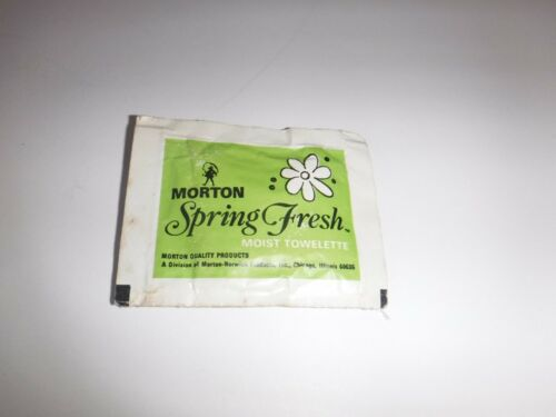 Vintage NOS Morton Spring Fresh Moist Towelette Morton Salt Girl