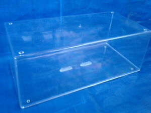NEW CLEAR ACRYLIC DISPLAY CASE DIECAST MODEL F1 CAR BARGAIN STACKABLE 1/18 1/20