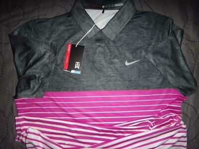 NIKE TIGER WOODS COLLECTION GOLF DRI-FIT POLO SHIRT M MEN NWT $110.00