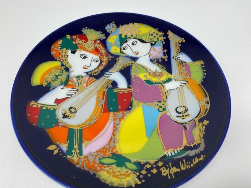 Bjorn Wiinblad Denmark Rosenthal Studio Line Plate Oriental Night Music EUC #2