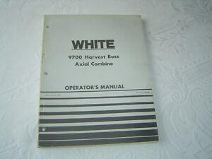 1979 white 9700 combine combines operators operators manual