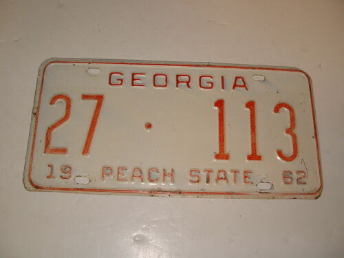 1962 Georgia License Plate Chey Ford Rat Rod Coweta County