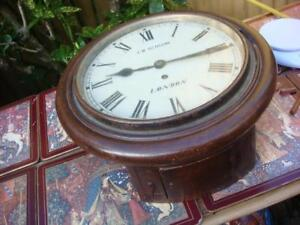 Vintage Clock Dial Clock With W & H Fusee movement For Restoration Spare  repair