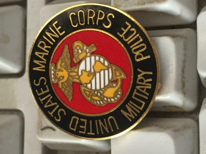 USMC United States Marine Corps Military Police Patch Pin Lapel or Hat