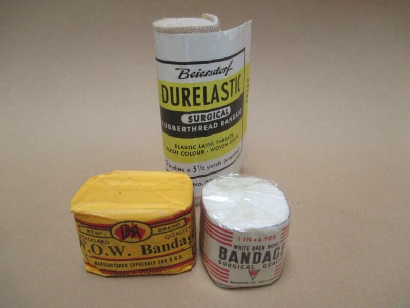 Bandages lot, x3, surgical,1960s, vintage