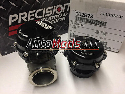Authentic 46mm Precision Wastegate and Tial Q Blow Off Valve combo PTE Black BOV